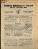 Business Information Service  Defense Production Aids