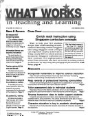 What Works in Teaching and Learning