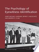 The Psychology of Eyewitness Identification Book