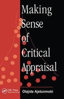 Making Sense of Critical Appraisal