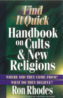 Find It Quick Handbook On Cults New Religions
