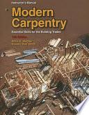 Modern Carpentry Instructor's Manual