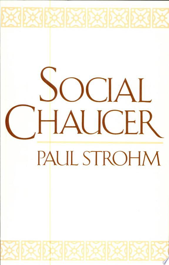 Social Chaucer