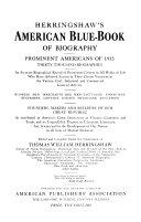 Herringshaw's American Blue-book of Biography