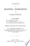 Manual of Drafting Instruments   Operations