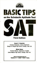 Barron s Basic Tips on the Scholastic Aptitude Test  SAT