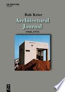 Architectural Journal 1960 1975
