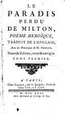 Le Paradis Perdu de Milton