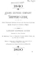 Shippers' Guide for Fifty Thousand Express Offices and Railway Stations ...