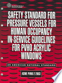 Safety Standard for Pressure Vessels for Human Occupancy