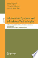 Information Systems And E Business Technologies Book PDF