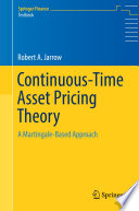 Continuous Time Asset Pricing Theory