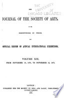 Journal of the Royal Society of Arts Book