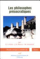 Les philosophes présocratiques