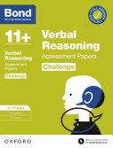 Bond 11   Bond 11  Verbal Reasoning Challenge Assessment Papers 10 11 years