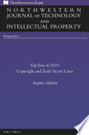 Northwestern Journal Of Technology Intellectual Property Vol 9 No 5