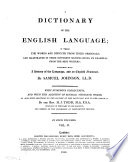 A Dictionary of the English Language Pdf/ePub eBook