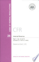 Code Of Federal Regulations Title 26 Internal Revenue Pt 1 Sections 1 1401 1 1550 Revised As Of April 1 2011