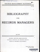 Records Management Handbook  General  Bibliography for Records Managers