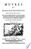 Œuvres de M. Boileau Despréaux..