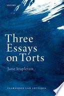 Three Essays on Torts Book