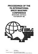 Proceedings of the 7th International Brick Masonry Conference, Melbourne, Australia, 17-20 February 1985