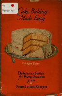 Cake Baking Made Easy with Airy Fairy  Delicious Cakes for Every Occasion from 6 Foundation Recipes