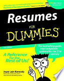 List of Dummies Resume E-book