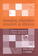 Managing Information Resources in Libraries Book