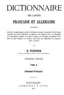 Wörterbuch der französischen und deutschen Sprache