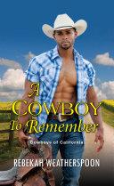 A Cowboy to Remember [Pdf/ePub] eBook