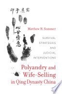 Polyandry and Wife Selling in Qing Dynasty China