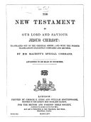 The New Testament, etc. (Le Nouveau Testament ... D'après la version revue par J. F. Ostervald.) Eng. & Fr ebook