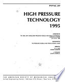 High Pressure Technology 1995