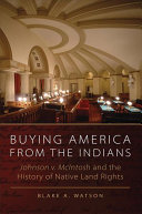 Buying America from the Indians