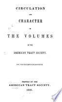 Circulation and Character of the Volumes of the American Tract Society
