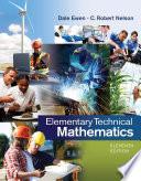 Elementary Technical Mathematics Book