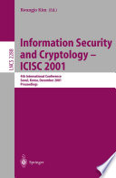 Information Security And Cryptology Icisc 2001