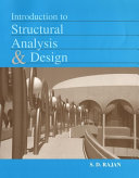 Cover of Introduction to structural analysis & design