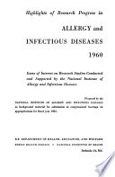 Highlights of Research Progress in Allergy and Infectious Diseases