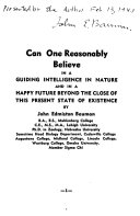 Can One Reasonably Believe in a Guiding Intelligence in Nature