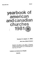 Yearbook of American and Canadian Churches  1981