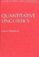 Quantitative Linguistics