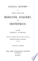 Clinical Lectures on Subjects Connected with Medicine  Surgery  and Obstetrics Book