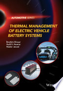 Thermal Management of Electric Vehicle Battery Systems Book