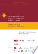 Micro Perspectives for Decentralized Energy Supply   Proceedings of the International Conference  2015  Bangalore