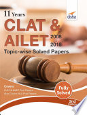 11 Years Clat Ailet 2008 18 Topic Wise Solved Papers 2nd Edition Book