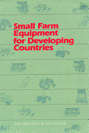 Small Farm Equipment for Developing Countries