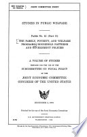 The Family  Poverty  and Welfare Programs