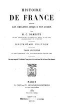 Histoire de France depuis les origines jusqu'à nos jours